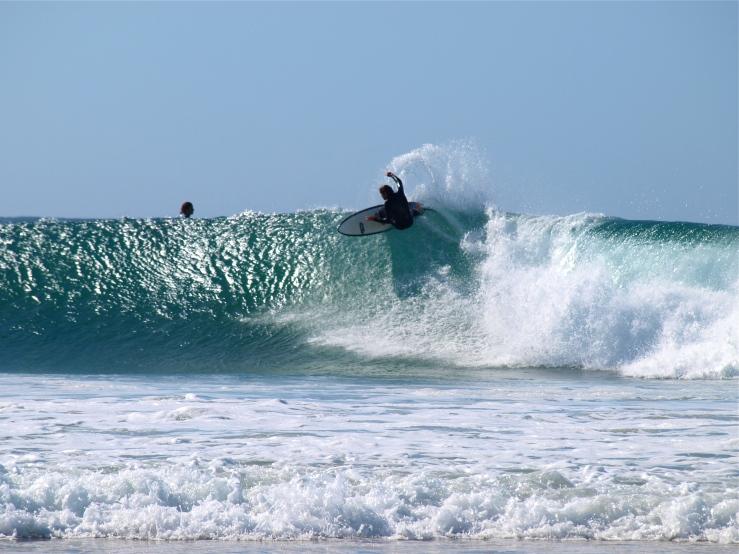 Surfer at Snapper Rocks