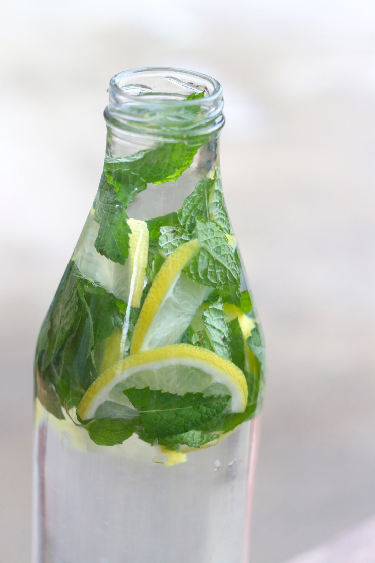 lemon and mint water